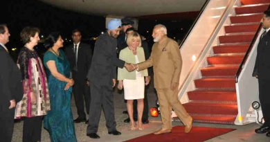 Narendra Modi arrives at Joint Base Andrews, Washington DC, USA on June 24, 2017