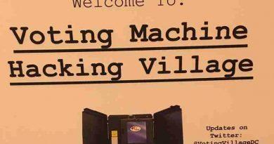 Hacker Voting Village at Def Con Convention in Las Vegas
