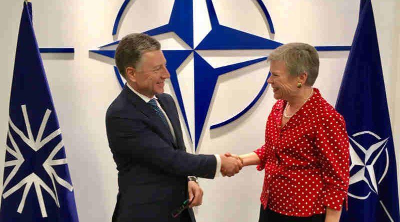 Ambassador Kurt Volker with NATO Deputy Secretary General Rose Gottemoeller. Photo: NATO