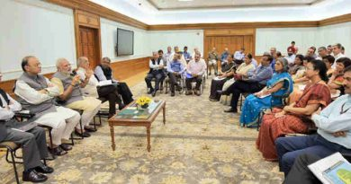 Narendra Modi interacting with the Additional Secretaries and Joint Secretaries, in New Delhi on August 23, 2017