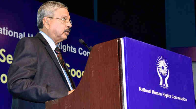 The Chairperson, National Human Rights Commission (NHRC), Justice H.L. Dattu addressing at the Valedictory Session of the two-day National Seminar on Good Governance, Development and Human Rights, organised by the National Human Rights Commission (NHRC), in New Delhi on September 22, 2017. (file photo). Courtesy: PIB