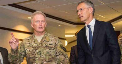NATO Secretary General Jens Stoltenberg visited US Central Command (CENTCOM) and Special Operations Command (SOCOM) at MacDill Air Force Base in Tampa, Florida for talks on stepping up NATO's role in fighting terrorism.