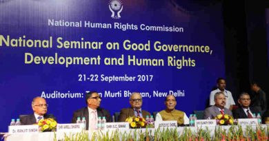 Rajnath Singh at the inauguration of the two-day National Seminar on Good Governance, Development and Human Rights, organised by the National Human Rights Commission (NHRC), in New Delhi on September 21, 2017