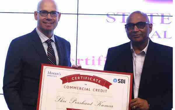 Mr. Prashant Kumar, Deputy Managing Director, State Bank of India (SBI), and Mr. Ari Lehavi, Executive Director, Moody's Analytics, launch a collaboration between SBI and Moody's Analytics to provide bank-wide credit certification to SBI's employees.