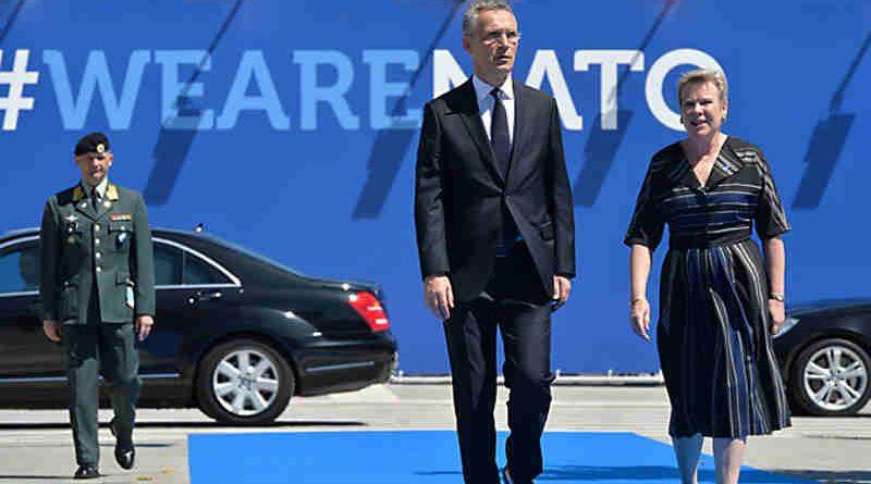 Left to right: NATO Secretary General Jens Stoltenberg arriving with NATO Deputy Secretary General Rose Gottemeoller. Photo: NATO