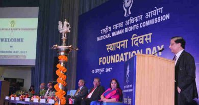 The Chief Justice of India, Justice Shri Dipak Misra addressing during the 24th Foundation Day Function of the National Human Rights Commission (NHRC), in New Delhi on October 12, 2017.