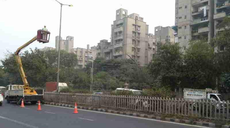 A group housing area in New Delhi, India. Photo: Rakesh Raman / RMN News Service
