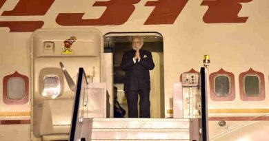 Narendra Modi arrives at New Delhi, after his 3-day visit to Manila, Philippines, on November 14, 2017. file photo
