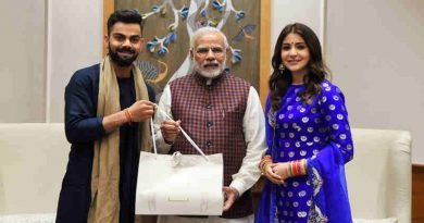The captain of the Indian cricket team, Virat Kohli and actress Anushka Sharma calls on the Prime Minister, Narendra Modi, in New Delhi on December 20, 2017.