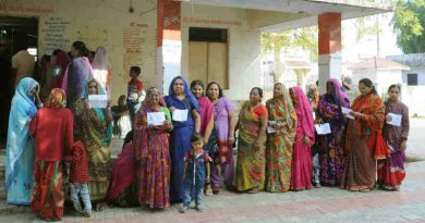 Voters waiting at a polling booth in India. Photo: PIB (Representational Image)