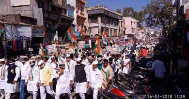 Congress holding demonstrations in Maharashtra state. Photo: Congress