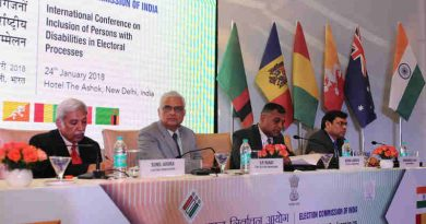 The Chief Election Commissioner, Shri O.P. Rawat along with the Election Commissioners, Shri Sunil Arora and Shri Ashok Lavasa at the inaugural session of the International Conference on 'Inclusion of Persons with Disabilities in Electoral Process', in New Delhi on January 24, 2018