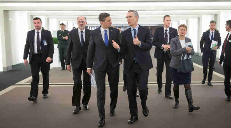 The President of Slovenia, Borut Pahor and NATO Secretary General Jens Stoltenberg
