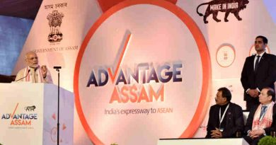 Narendra Modi addressing at the inaugural session of the Advantage Assam- Global Investors Summit 2018, in Guwahati, Assam on February 03, 2018