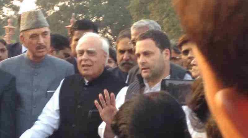 Congress President Rahul Gandhi addresses the media after meeting the President to demand an investigation into Judge Loya's death.