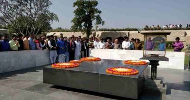 The Delhi unit of Bharatiya Janata Party (BJP) held a prayer meeting on February 26, 2018 at Rajghat to get Delhi chief minister Arvind Kejriwal blessed with some wisdom. Photo: BJP