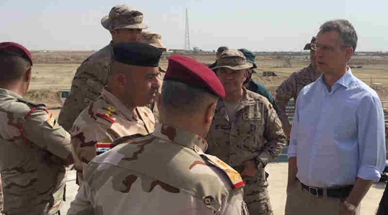 NATO Secretary General Jens Stoltenberg on an official visit to Iraq. Photo: NATO