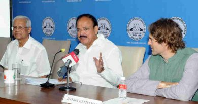 M. Venkaiah Naidu addressing the gathering at the 60th anniversary of The Foreign Correspondents' Club of South Asia, in New Delhi on April 07, 2018