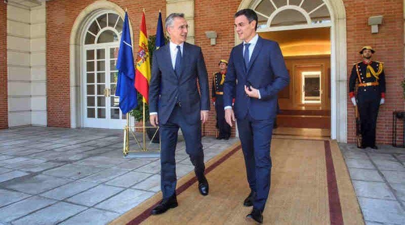 NATO Secretary General Jens Stoltenberg and the Prime Minister of Spain, Pedro Sanchez. Photo: NATO
