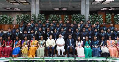Narendra Modi with the Assistant Secretaries (IAS Officers of 2016 batch), in New Delhi on July 04, 2018