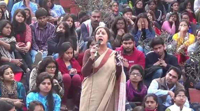 Communist Leader Brinda Karat Addressing Students in the JNU Case (file photo)