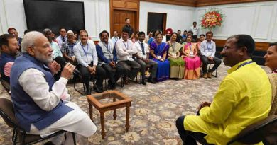Narendra Modi interacting with the awardees of the National Teachers' Awards, on the eve of Teachers' Day, in New Delhi on September 04, 2018