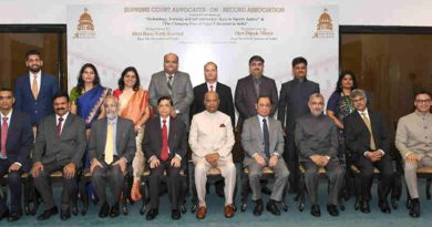 The President, Shri Ram Nath Kovind in a group photograph at the inauguration of the National Conference, organised by the Supreme Court Advocates-on-record Association (SCAORA), in New Delhi on September 01, 2018. The Chief Justice of India, Justice Shri Dipak Misra and other dignitaries are also seen. (file photo)