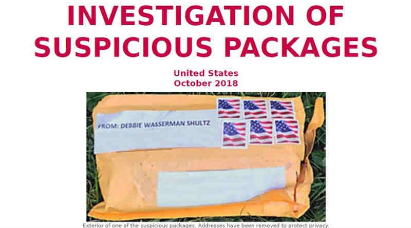 Pipe Bomb Package: Photo: FBI