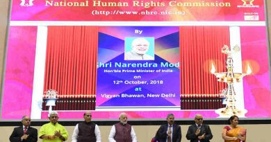 Narendra Modi launching the National Human Rights Commission Website, at the Silver Jubilee Foundation Day function of the National Human Rights Commission, in New Delhi on October 12, 2018