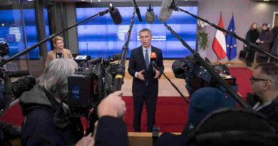 NATO Secretary General Jens Stoltenberg delivers a doorstep statement upon arrival at the European Council. Photo: NATO (file photo)
