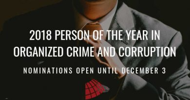 Person of the Year 2018 in Organized Crime and Corruption