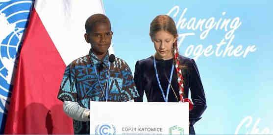 Youth Champions Timoci Naulusala from Fiji and Hanna Wojdowska from Poland