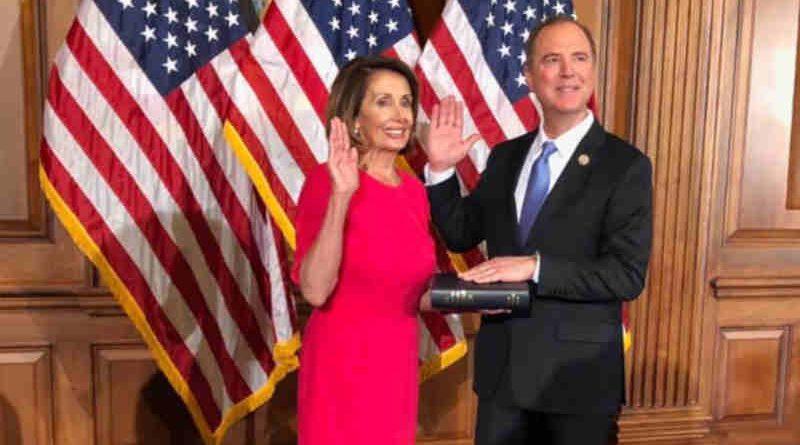 Nancy Pelosi with Adam Schiff
