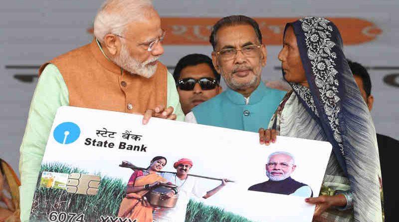 Narendra Modi during the launch of the PM-Kisan scheme, at Gorakhpur, in Uttar Pradesh on February 24, 2019