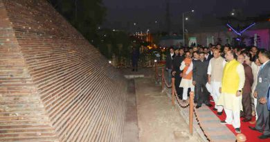 """Rajnath Singh at the inauguration of the """"Waste to Wonder"""" Park under the South Delhi Municipal Corporation (SDMC), in New Delhi on February 21, 2019. The Lt. Governor of Delhi, Shri Anil Baijal and other dignitaries are also seen."""