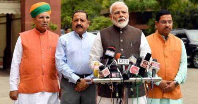 Narendra Modi addressing the media before the start of 17th Lok Sabha, at Parliament House, in New Delhi on June 17, 2019. Photo: PIB