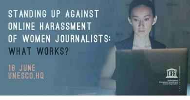 How to Prevent Online Harassment of Women Journalists. Photo: UNESCO