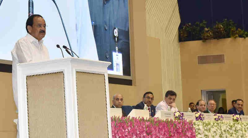 M. Venkaiah Naidu addressing the gathering at the Platinum Jubilee Celebrations of Institute of Chartered Accountants of India, in New Delhi on July 01, 2019. Photo: PIB