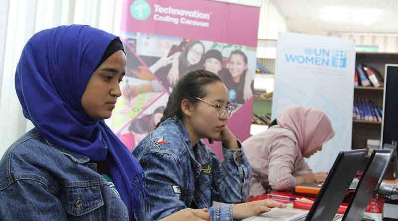 Technovation Coding Caravan. Photo: UN Women