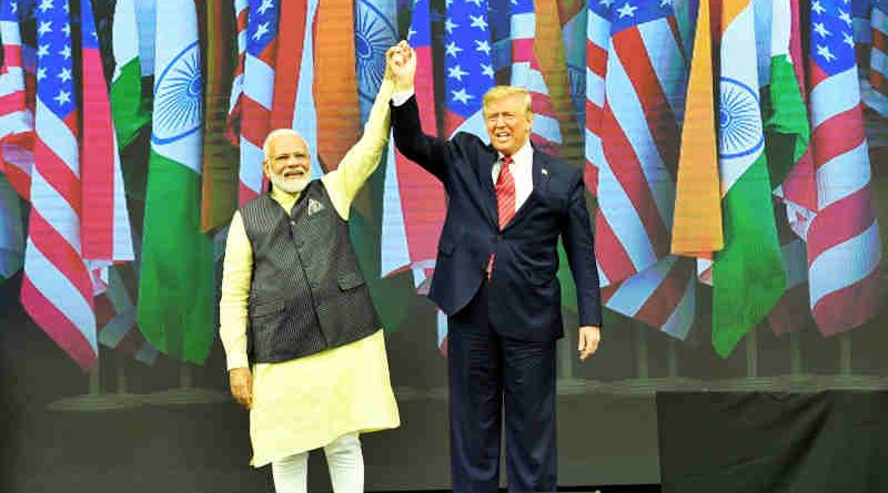 PM Narendra Modi with U.S. President Donald Trump at the 'Howdy Modi' event in Houston, USA on September 22, 2019. Photo: PIB (file photo)