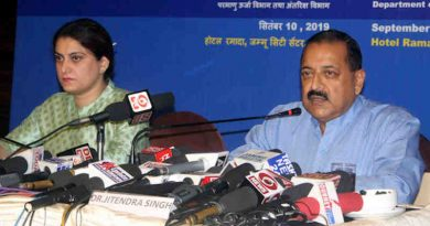 Jitendra Singh addressing a press conference on completion of 100 Days of Government, in Jammu on September 10, 2019. Photo: PIB