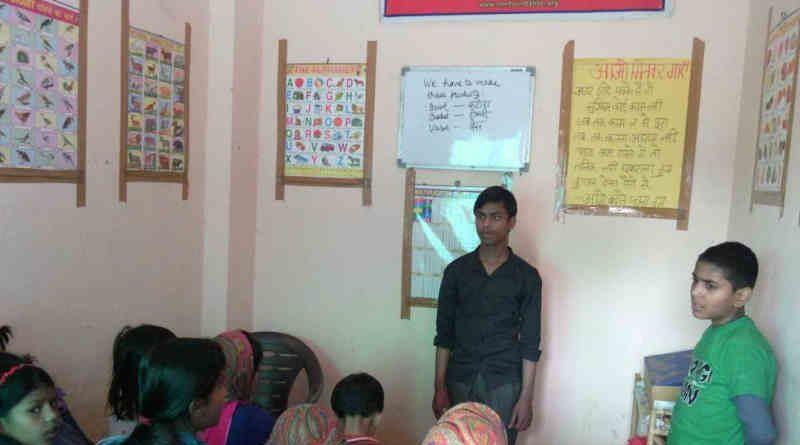 Students at RMN Foundation Free School for Deserving Children at New Delhi, India. Photo: Rakesh Raman / RMN News Service