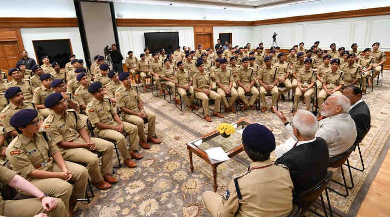 IPS Probationers calling on Prime Minister Narendra Modi in New Delhi on October 09, 2019. Photo: PIB