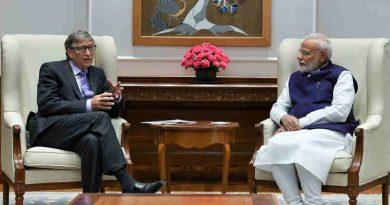 The Co-Chair of the Bill & Melinda Gates Foundation Bill Gates calling on India's Prime Minister Narendra Modi in New Delhi on November 18, 2019. Photo: PIB