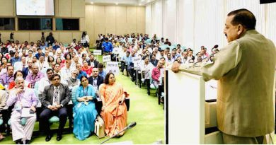Dr. Jitendra Singh addressing the National Workshop on Centralised Public Grievance Redress and Monitoring System (CPGRAMS) Reforms, organised by the Department of Administrative Reforms and Public Grievances (DARPG), Ministry of Personnel, Public Grievances and Pensions, in New Delhi on November 05, 2019. Photo: PIB
