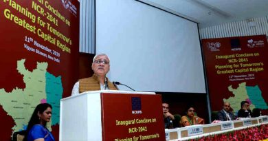 """Secretary, Ministry of Housing and Urban Affairs, Durga Shanker Mishra addressing at the inaugural conclave on """"National Capital Region-2041"""", in New Delhi on November 11, 2019. Photo: PIB"""