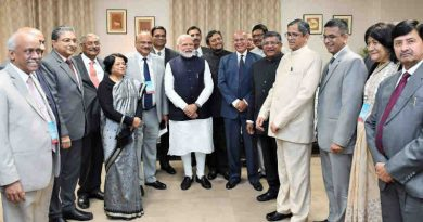 Prime Minister Narendra Modi with the foreign and Indian judges, at the International Judicial Conference 2020, in New Delhi on February 22, 2020. Photo: PIB