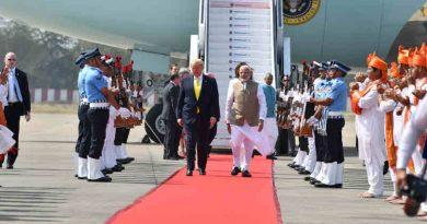 Donald Trump with Narendra Modi on February 24, 2020. Photo: PIB