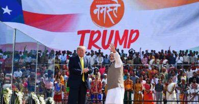 President Donald Trump and PM Narendra Modi at the Namaste Trump event in India on February 24, 2020. Photo: PIB
