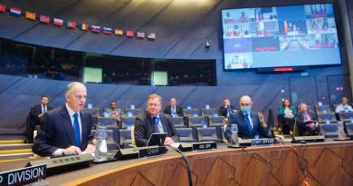 NATO Policy Directors for Civil Preparedness met by secure video conference on July 8, 2020 to exchange views and best practices in their response to the Covid-19 crisis and how to strengthen national resilience. Photo: NATO